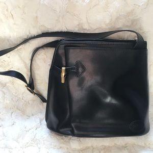 Longchamp vintage Roseau black leather purse